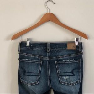 American Eagle Outfitters Jeans - AE Super Super Stretch Distressed Denim Jegging 4